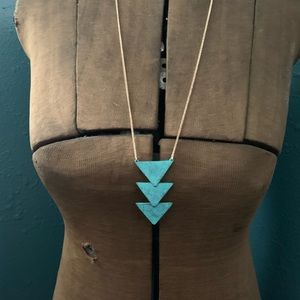 Francesca's Collections Jewelry - Francesca's Turquoise Triangles Long Necklace